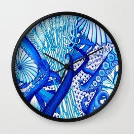 Blue Sploodge  Wall Clock