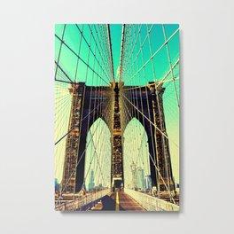 East river Brooklyn bridge Metal Print