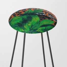 Jungle cat Counter Stool
