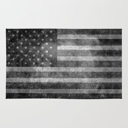 Star Spangled Banner in Grayscale Rug