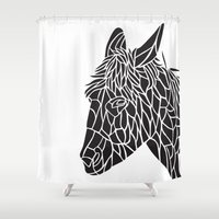 donkey Shower Curtains featuring Donkey by Gemma Bullen Design