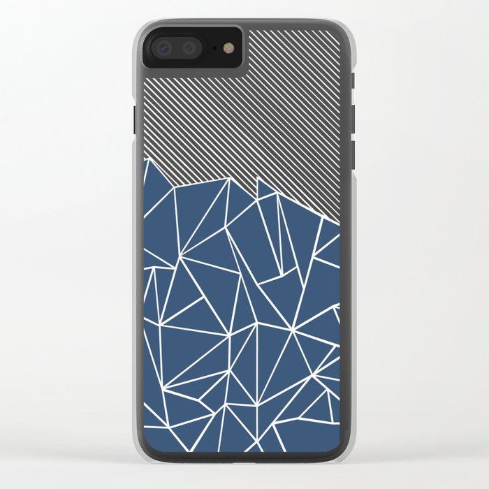 Ab Lines 45 Navy Clear iPhone Case