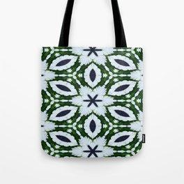 White African Daisy Kaleidoscope Print Tote Bag