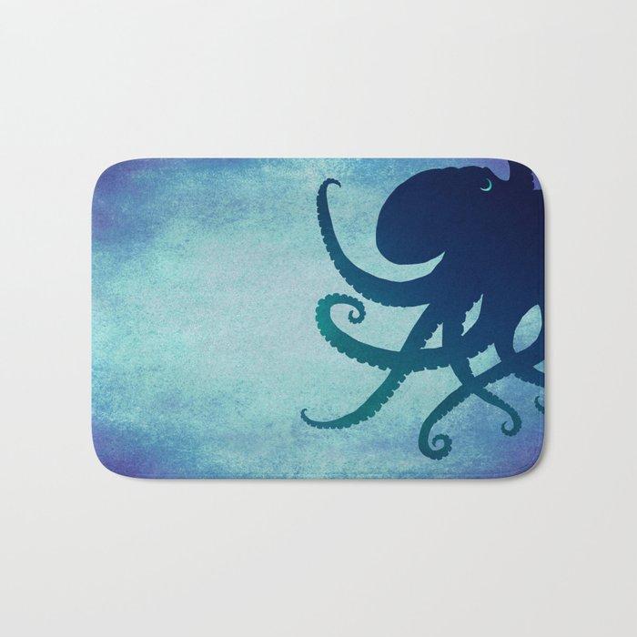 Indigo Mastermind ~ Octopus ~ Marine Life ~ (Copyright 2014) Bath Mat
