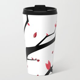Cherry Blossom Geometric Travel Mug