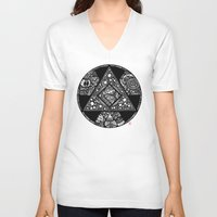 alchemy V-neck T-shirts featuring Altered Alchemy by Christina Rivera-Scott