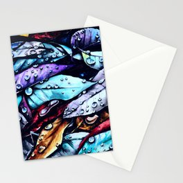 Foliage watercolor painting art Stationery Cards