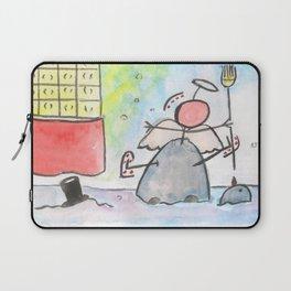 "#cagsticks ""Angel in snowman"" Laptop Sleeve"