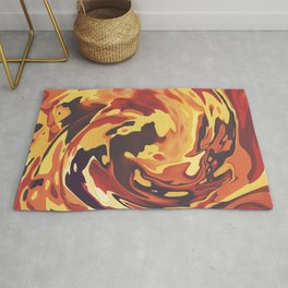 Abstract Marble Painting Rug