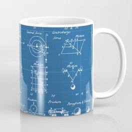 Table Of Engineering And Mechanics Blueprint Artwork Coffee Mug