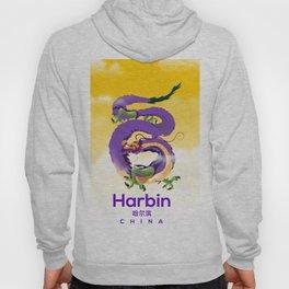Harbin China Dragon travel poster Hoody