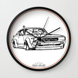 Crazy Car Art 0017 Wall Clock