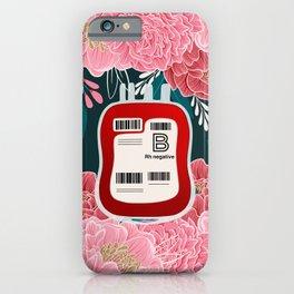 Floral B Negative  iPhone Case