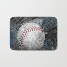 Baseball print work vs 1 Bath Mat
