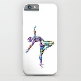 Gymnastics Muscles Colorful Anatomy Watercolor iPhone Case