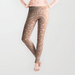 Geometric tribal mandala Leggings