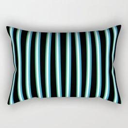 Between the Trees - Black, Blue & Green #312 Rectangular Pillow