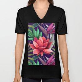 The Enchanted Lotus Unisex V-Neck