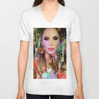 navajo V-neck T-shirts featuring Princess Navajo by Ganech joe