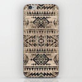 Ethnic Geometric Bark and Wood texture pattern iPhone Skin