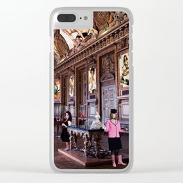 A Young Artist Watches With Tears In Her Eyes As Pauline Boty Turns to Stone Clear iPhone Case
