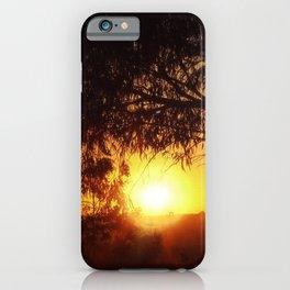 Sunset Silhouettes   Beautiful Nature iPhone Case