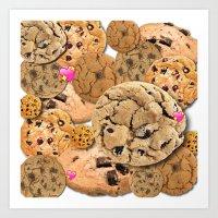 cookies Art Prints featuring Cookies by jajoão