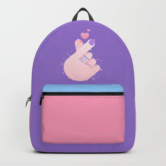 Korean Finger Heart Rucksack