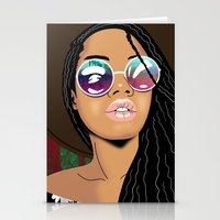 coachella Stationery Cards featuring Coachella Chic by Mark Baker-Sanchez