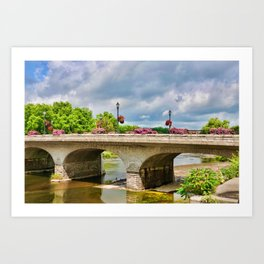 Queen St Bridge, St Marys, Ontario Art Print
