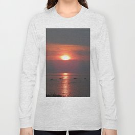 Ste-Anne-Des-Monts Sunset on the Sea Long Sleeve T-shirt