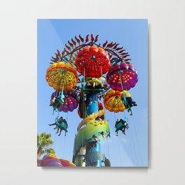 Jumping Jellyfish Metal Print