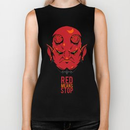 Red Means Stop. Biker Tank