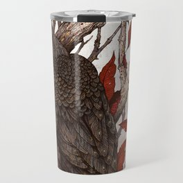 A Raven In Winter Travel Mug
