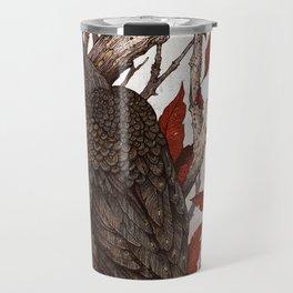 A Raven In Winter Travel Mug