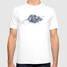 Rat love White Mens Fitted Tee MEDIUM