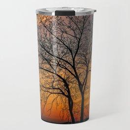 Crimson Branches Travel Mug