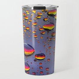 Rainbow Raindrops Travel Mug
