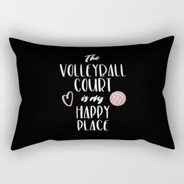 The volleyball court is my happy place Rectangular Pillow