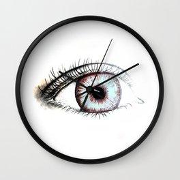 Looking In #2 - Original sketch to digital art Wall Clock