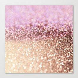 Mermaid Rose Gold Blush Glitter Canvas Print