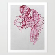 Red Mirror Gypsy Art Print