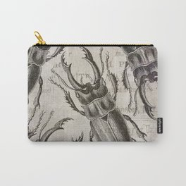Grunge Style Stag Beetle Carry-All Pouch
