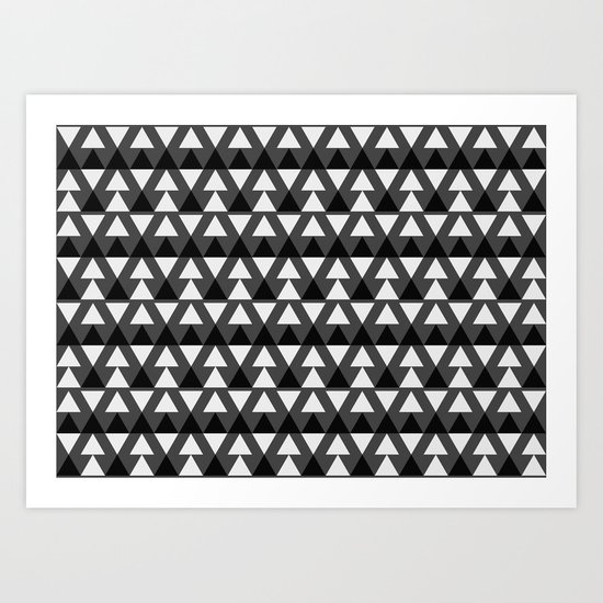 Black & White Triangles Art Print