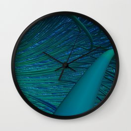 Connected in Green Wall Clock