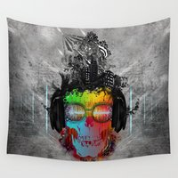 rebel Wall Tapestries featuring Rebel music by gwenola de muralt