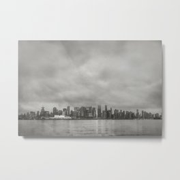 Vancouver Raincity Series - Raincity i - Moody Downtown Vancouver Cityscape Metal Print