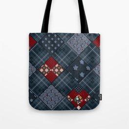 Dark blue -denim- patchwork Tote Bag