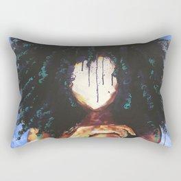 Naturally I BLUE Rectangular Pillow