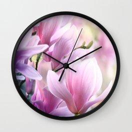 Magnolia blossoms Wall Clock